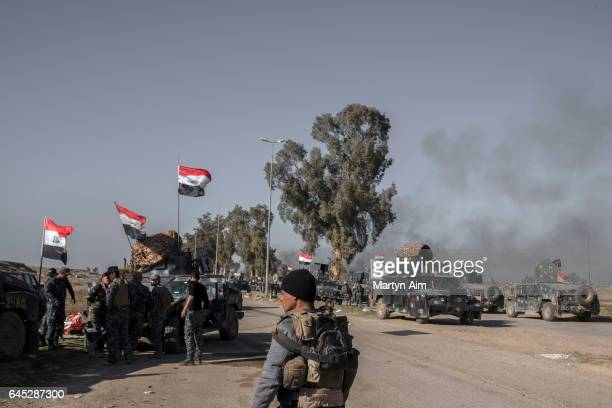 Golden Division battalions of the Iraqi Counter Terrorism Service advance into west Mosul part of the offensive to retake the city some two years...