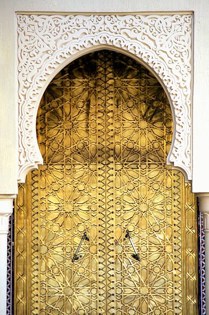 Golden Door and an Arch Way, Casablanca, Morocco