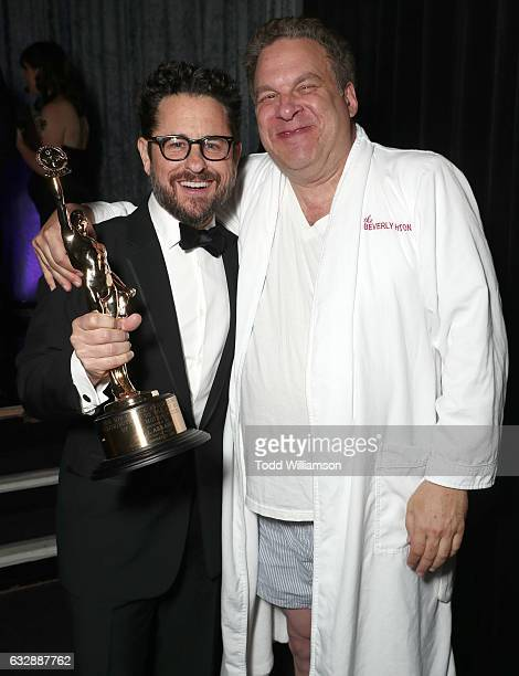 Golden Eddie Honoree JJ Abrams and presenter Jeff Garlin attend the 67th Annual ACE Eddie Awards at The Beverly Hilton Hotel on January 27 2017 in...