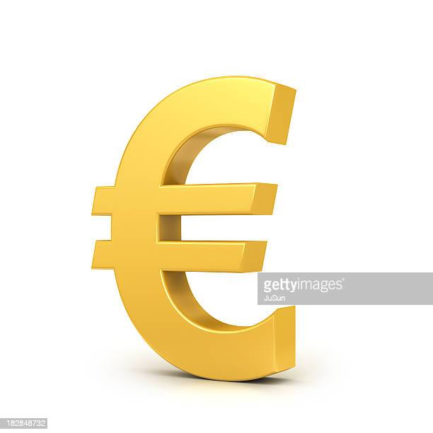 golden euro sign - symbol stock pictures, royalty-free photos & images