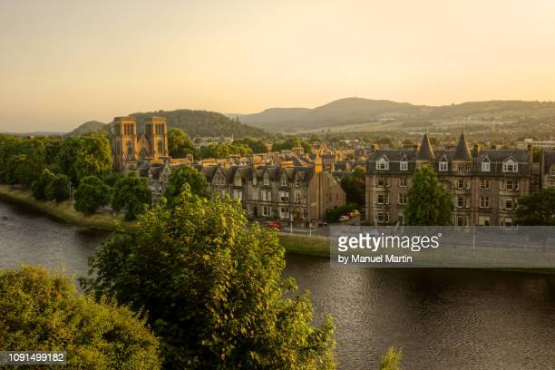 golden evening sun over inverness - inverness scotland stock pictures, royalty-free photos & images