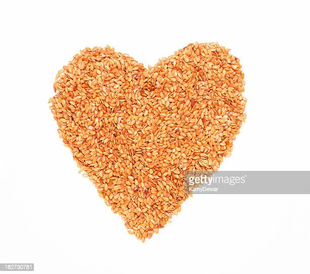 Golden Flax Seed Heart