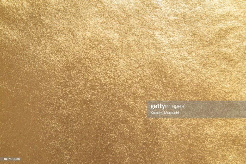 Golden foil paper texture background : Stock Photo