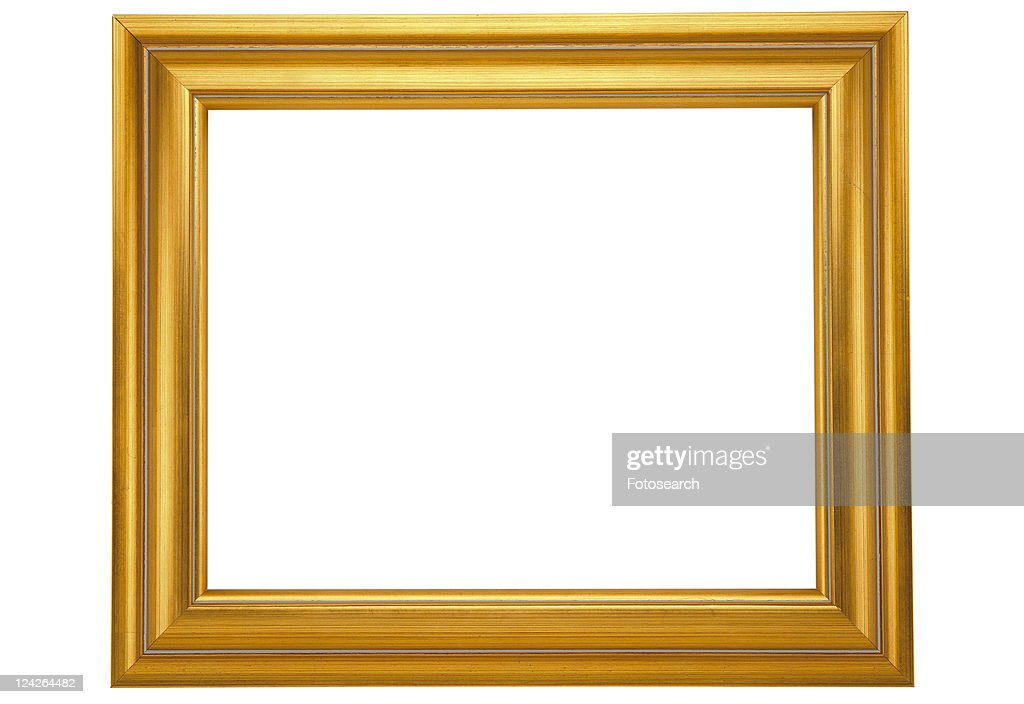 Golden Frame Simple Rim Yellow Stock Photo | Getty Images