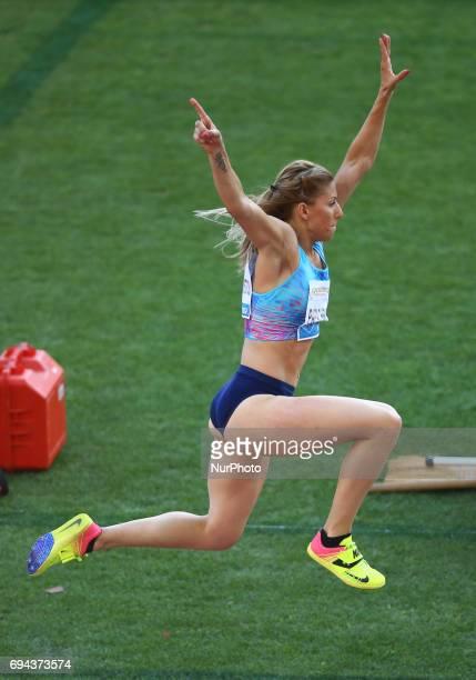 Golden Gala Iaaf Diamond League Rome 2017 Paraskevi Papachristou competes in Triple Jump Women at Olimpico Stadium in Rome Italy on June 8 2017