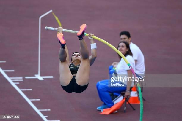 Golden Gala Iaaf Diamond League Rome 2017 Sonia Malavisi competes in Pole Vault Women at Olimpico Stadium in Rome Italy on June 8 2017