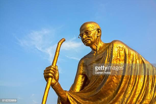 Golden Gandhi statue, Port Blair, Andaman Islands