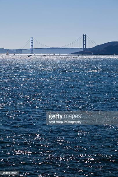 Golden Gate bridge across San Francisco Bay
