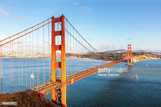 Golden gate bridge and bay, San Francisco, USA