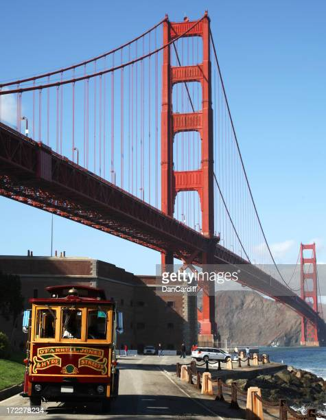 Golden Gate Bridge and Cable Car