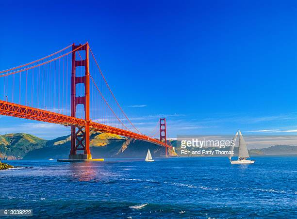 Golden Gate bridge and San Francisco Bay, CA (P)