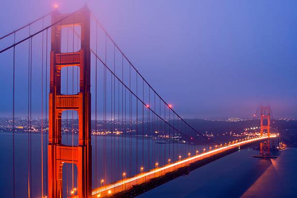 Golden Gate Bridge At Night Wall Art