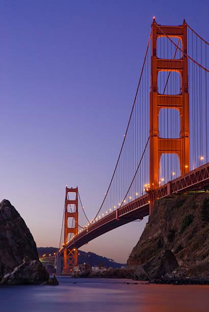 Golden Gate Bridge From Fort Baker, Dawn Wall Art