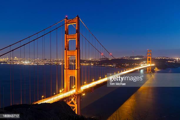 Golden Gate Bridge from Marin Headland, San Francisco, USA.