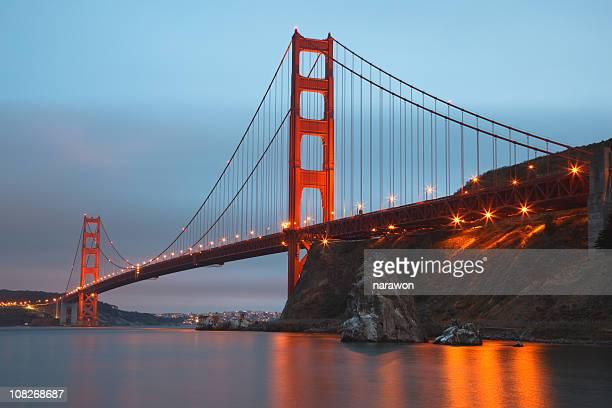 Pont du Golden Gate au coucher du soleil