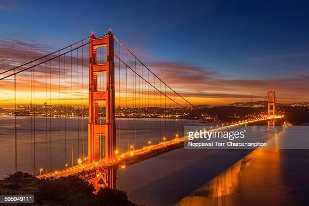 golden gate bridge of san francisco - ponte sospeso foto e immagini stock