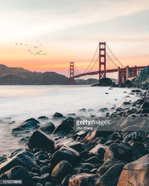 golden gate bridge - san francisco california stock pictures, royalty-free photos & images