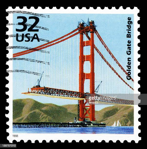 golden gate bridge (xxlarge) - postage stamp stock pictures, royalty-free photos & images
