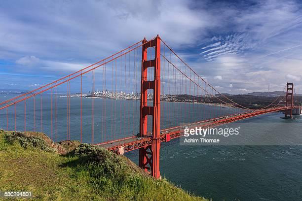 golden gate bridge - achim thomae stock-fotos und bilder
