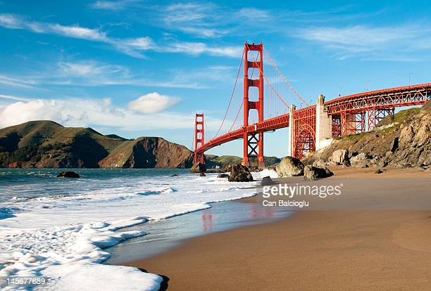 golden gate bridge, san francisco - san francisco california stock photos and pictures