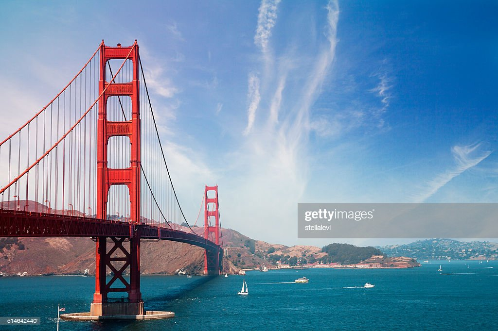 Ponte Golden Gate de San Francisco : Foto de stock