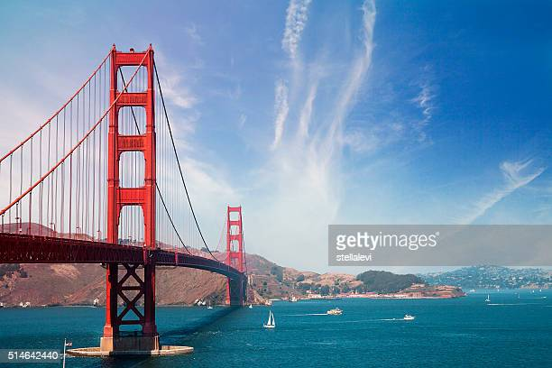 golden gate bridge und san francisco - kalifornien stock-fotos und bilder
