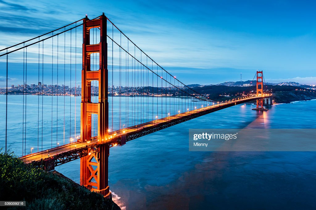 Golden Gate Bridge Sunrise San Francisco California USA : Stock Photo