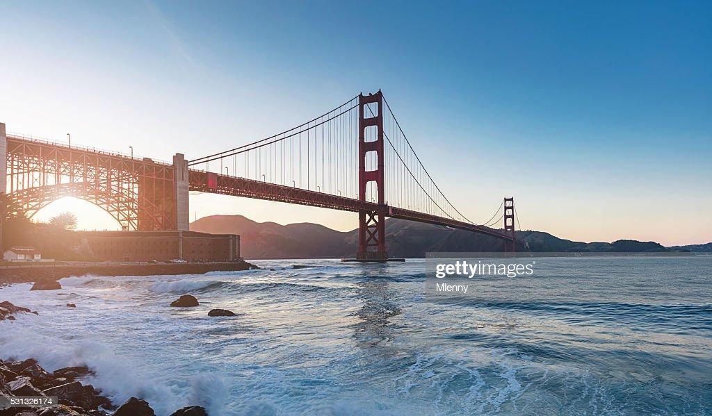 Golden Gate Bridge Sunset Panorama San Francisco : Stock Photo