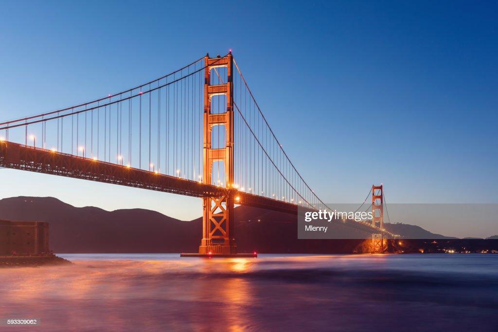 Golden Gate Bridge Twilight San Francisco California : Stock Photo