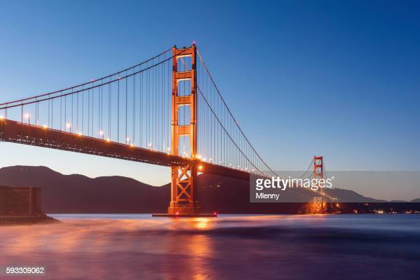 Golden Gate Bridge Twilight San Francisco California