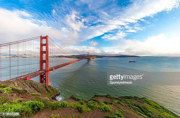 Golden Gate Bridge under ultra wide angle lens