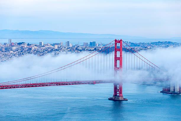 Golden Gate Bridge With Low Fog, San Francisco Wall Art