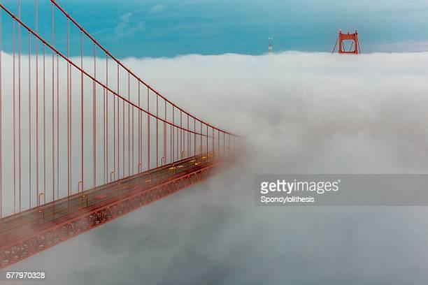 Golden Gate Bridge with low fog, San Francisco