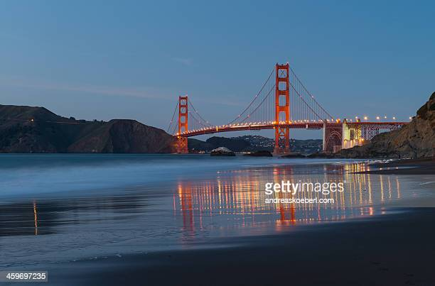 Golden Gate Bridge with Reflections in water