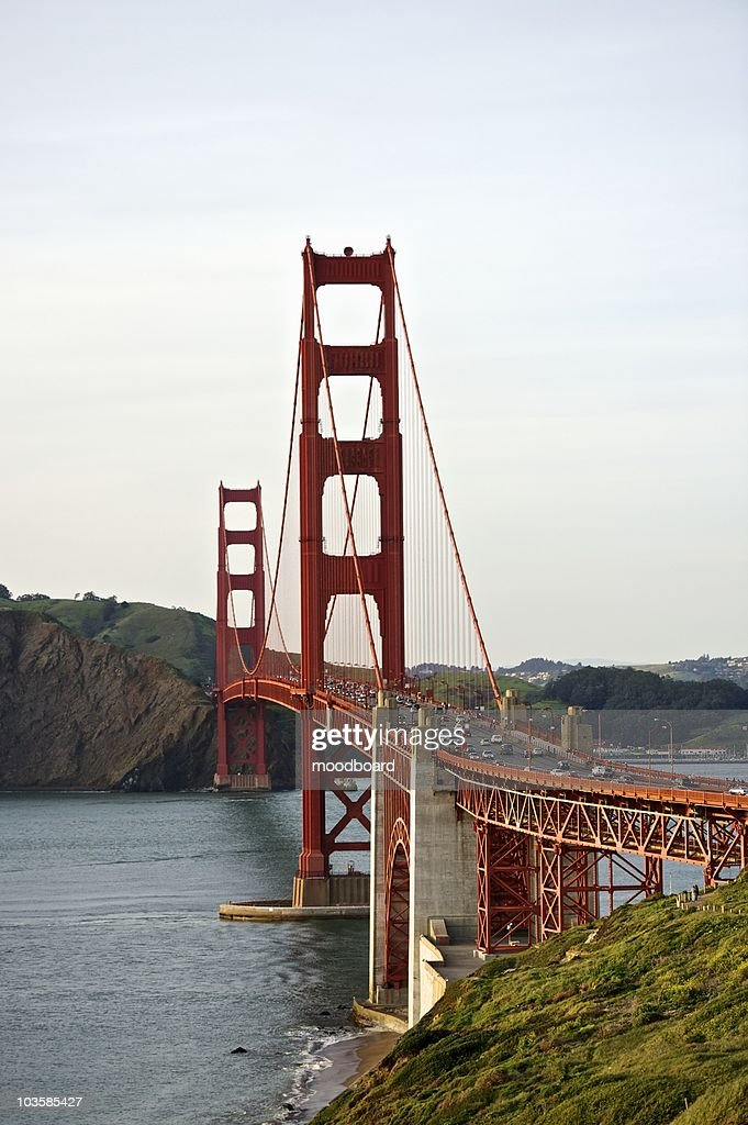 Golden Gate bridge with view to Marin County : Stock Photo