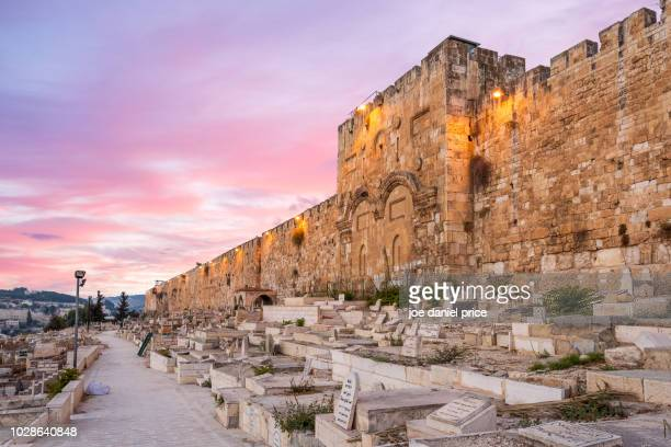 golden gate, jerusalem, israel - jerusalem old city stock pictures, royalty-free photos & images