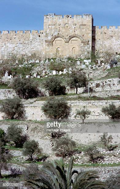 Golden Gate, Jerusalem, Israel. The Golden Gate is the oldest gate in the walls of the Old City of Jerusalem. Standing on the site of a much earlier...