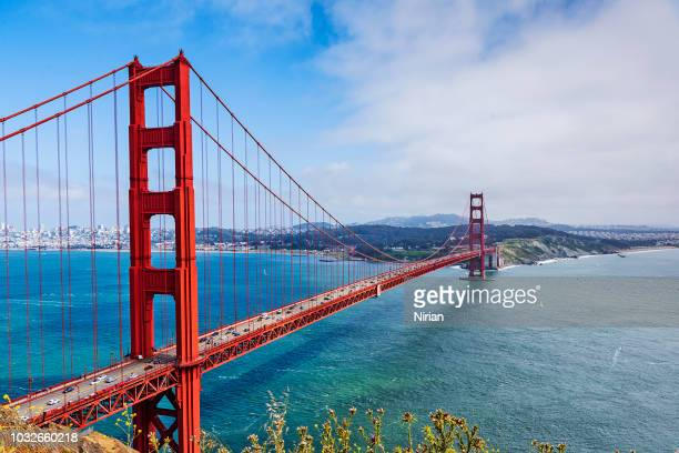 golden gate straat - california stockfoto's en -beelden
