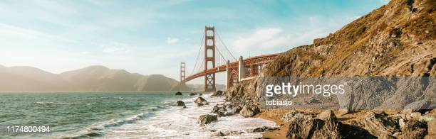 golden gate strait - golden gate bridge stock pictures, royalty-free photos & images