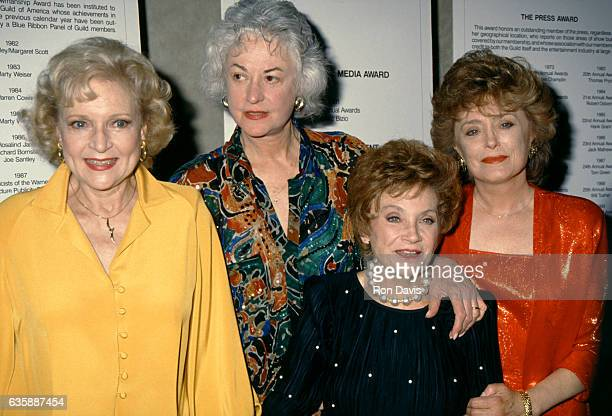 Golden Girls stars Betty White, Bea Arthur Estelle Getty and Rue McClanahan pose for a portrait circa 1992 in Los Angeles, California.