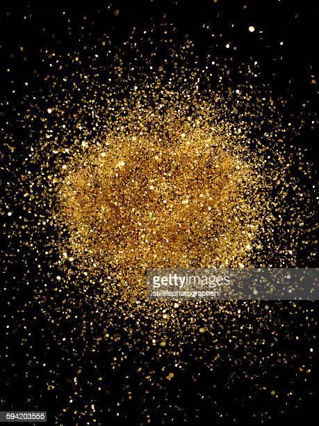 Golden Glitter Explosion