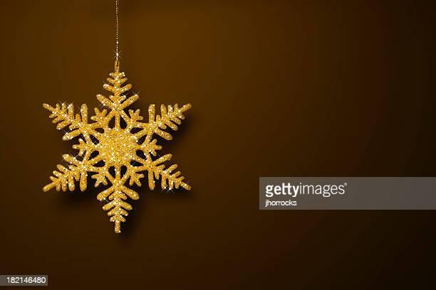 Golden Glitter Snowflake