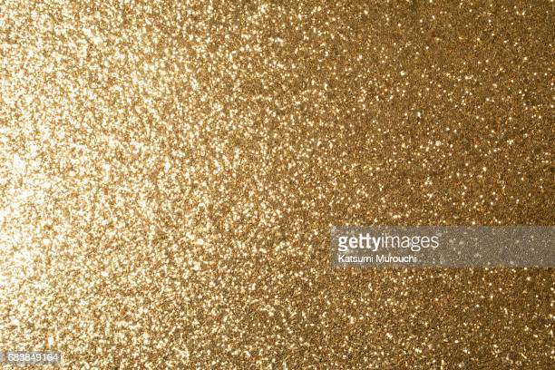 Golden glitter textures background