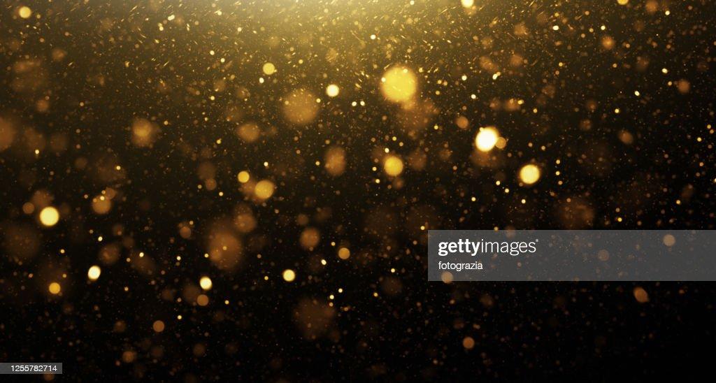 Golden Glittering Background : Stockfoto