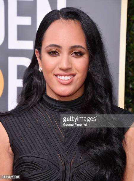 Golden Globe Ambassador Simone Garcia Johnson attends The 75th Annual Golden Globe Awards at The Beverly Hilton Hotel on January 7 2018 in Beverly...