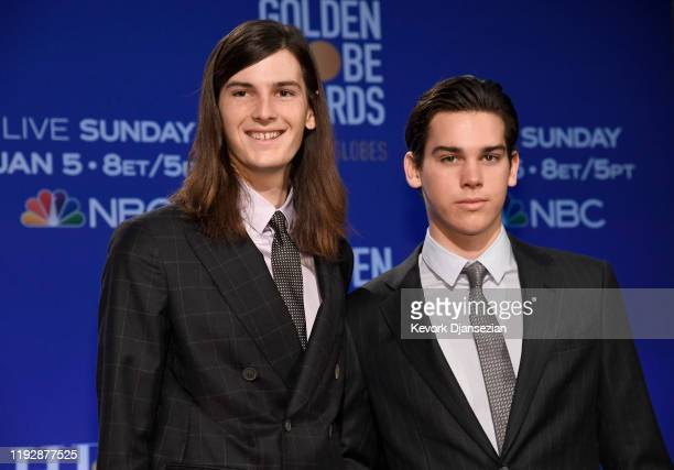 Golden Globe Ambassadors Dylan Brosnan and Paris Brosnan attend the 77th Annual Golden Globe Awards Nominations Announcement at The Beverly Hilton...