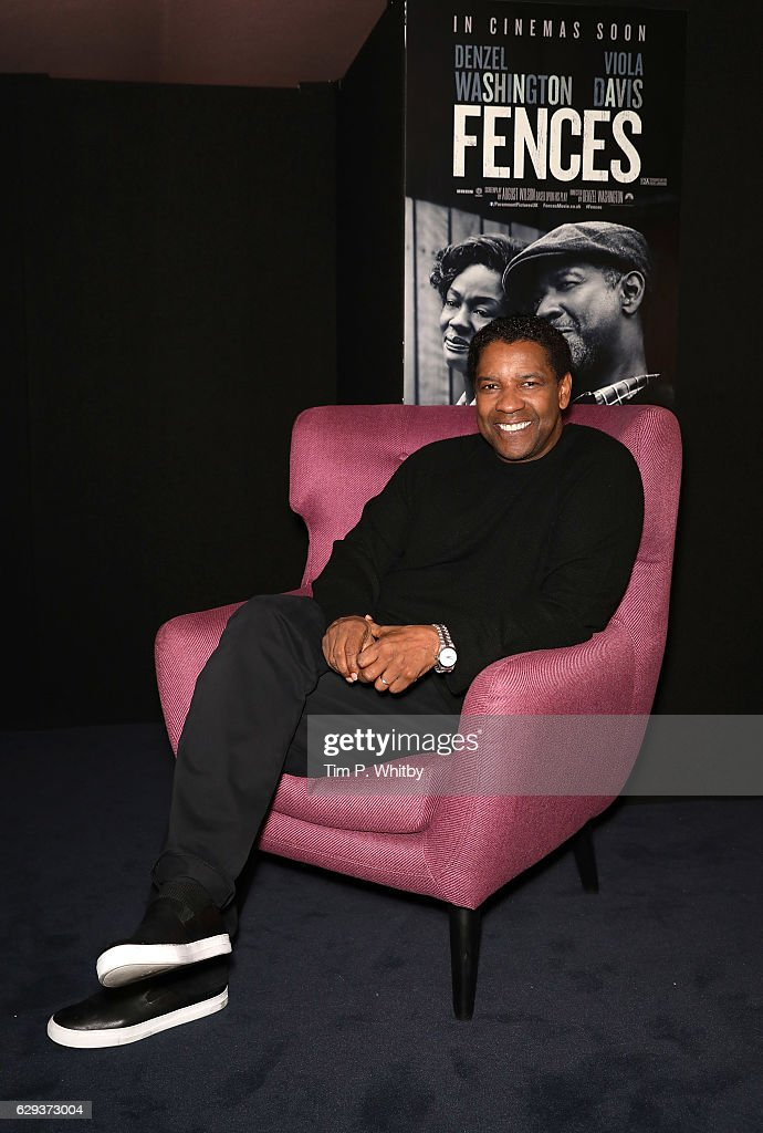 Golden Globe Nominee Denzel Washington poses for a photo prior to attending a Q and A for 'Fences' at The Curzon Mayfair on December 12, 2016 in London, England.