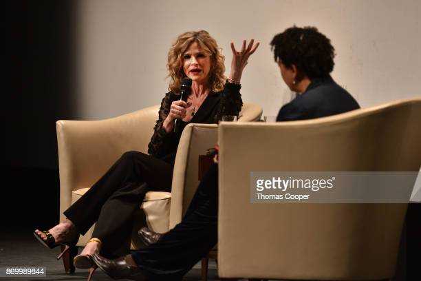 Golden Globe winning actress Kyra Sedgwick does a QA after a screening of her film Submission She was awarded the prestigious John Cassavetes Award...