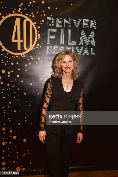 Golden Globe winning actress Kyra Sedgwick walks the red carpet at the 40th annual Denver Film Festival Kyra accepted the prestigious John Cassavetes...