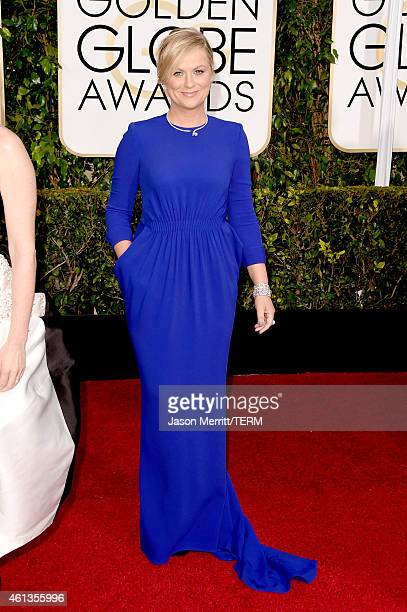 Golden Globes Host and Actress Amy Poehler attends the 72nd Annual Golden Globe Awards at The Beverly Hilton Hotel on January 11 2015 in Beverly...